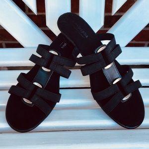 Predictions Comfort Plus Black Sandals NWT